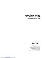 motu traveler mk3 manuals rh manualslib com Motu 828mkII Motu Traveler MK1