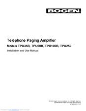 bogen tpu 35b manuals rh manualslib com Model Bogen TPU 35B Bogen TAMB2