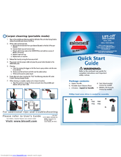 Bissell Lift-Off 27F6 Series Quick Start Manual