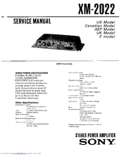 sony xm 2002gtr stereo amplifier service manual pdf download rh manualslib com Cell Phone Operation Manuals Samsung Remote Control Manual