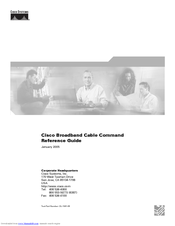 Cisco Broadband Cable Reference Manual
