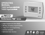 Peco Performance pro T4000 series Manuals