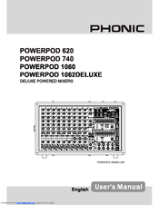Phonic powerpod k-16 plus manuals.