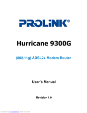 DRIVER: PROLINK HURRICANE 9300G WIRELESS ROUTER