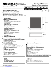 Frigidaire FEB30XPFSA Specifications