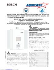 bosch aquastar 125b ngl operati manuals rh manualslib com Bosch AquaStar Water Heater Bosch AquaStar Water Heater