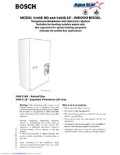 Bosch Ae125 User Manual