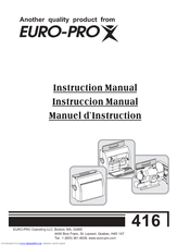 euro pro 416 manuals rh manualslib com Euro-Pro Toaster Oven Manual shark euro-pro x user guide