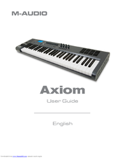 M-Audio AXIOM User Manual