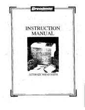 Breadman TR500A Instruction Manual