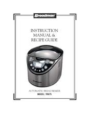 breadman tr875 instruction manual recipe manual pdf download rh manualslib com Breadman User Manual Breadman TR555LC Manual