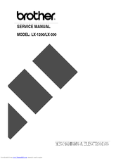 Brother LX-300 Service Manual