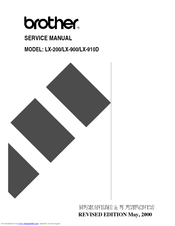 Brother LX-200 Service Manual