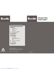 Breville Smart Toaster BTA820XL Manuals