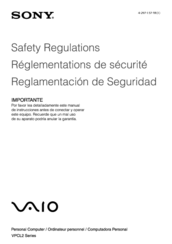 Sony VAIO VPCL23BFX Safety Information Manual