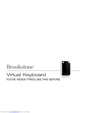 Brookstone Virtual Keyboard Manual