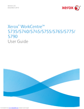 Xerox WORKCENTRE 5735 User Manual