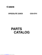 Canon 220EX - Speedlite - Hot-shoe clip-on Flash Parts Catalog