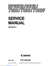 Canon NP7130F Service Manual