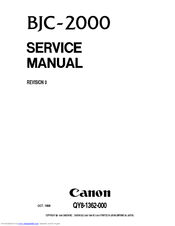 Canon Color Bubble Jet BJC-2000 Series Service Manual