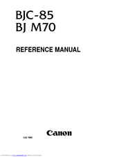 Canon BJC-85 Reference Manual