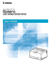 Canon Satera LBP-3910 User Manual