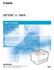 Canon LBP3310 User Manual