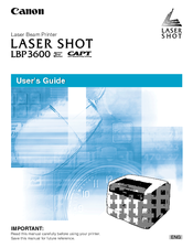 Canon LASER SHOT LBP-3600 User Manual