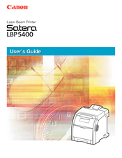 Canon satera LBP-5400 User Manual