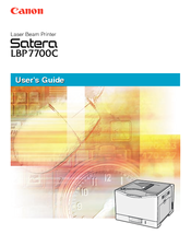 Canon Satera LBP7700C User Manual