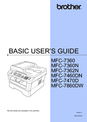 brother mfc 7360n manuals rh manualslib com Brother MFC 7360N Wireless Setup Brother MFC 7360N Wireless Setup