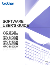 Brother DCP 8085DN Software User's Manual