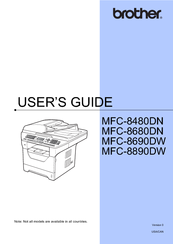 brother mfc 7860dw user manual
