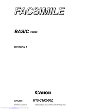 Canon 2000 Service Manual