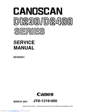 Canon CanoScan D1230UF Service Manual