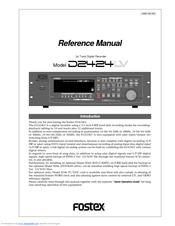 fostex d2424lv mkii manuals rh manualslib com