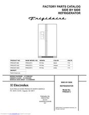 Frigidaire FRS23ZTJ Parts Catalog