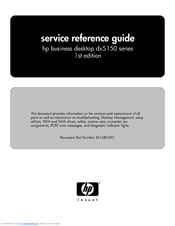 HP dx5150 Reference Manual