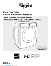 Whirlpool WFW86HEBW Use And Care Manual