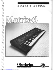 oberheim matrix 6 manuals rh manualslib com Oberheim Matrix 1000 Oberheim Matrix 1000