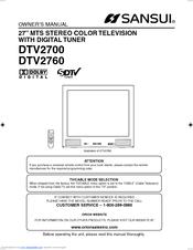 sansui dtv2760 manuals rh manualslib com sansui tv 2610n service manual pdf sansui tv owner's manual