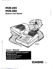 Casio PCR-255 User Manual