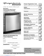 frigidaire dishwasher manuals rh manualslib com Frigidaire Dishwasher Parts Manual Frigidaire Dishwasher Replacement Parts