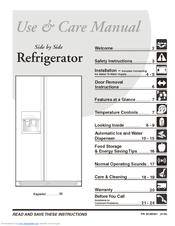 frigidaire frs6r5esb 26 cu ft refrigerator manuals rh manualslib com Frigidaire Oven Manual Frigidaire Gas Range Manual