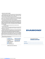 diamond audio technology d6 series manuals diamond audio technology d6 series owner s manual