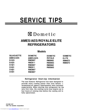 DOMETIC RM2607 SERVICE TIPS MANUAL Pdf Download