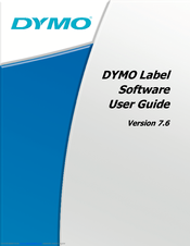 DYMO LABEL SOFTWARE USER'S MANUAL Pdf Download