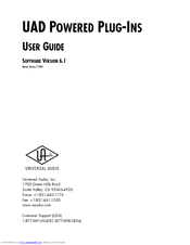Universal Audio UAD User Manual