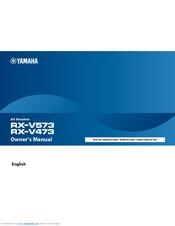 yamaha rx v473 manuals
