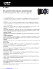 Sony Alpha NEX-5R Specifications
